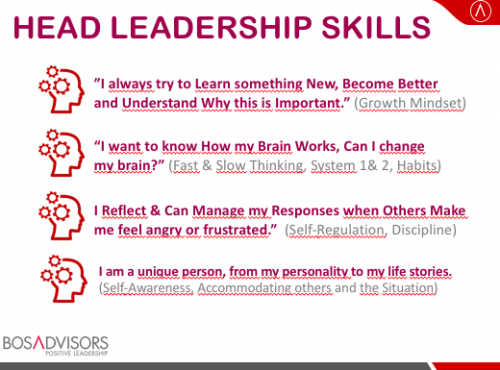 These skills are clear, simple and enjoyable for those who prefer Head Leadership.